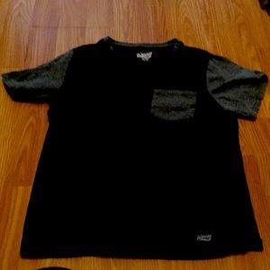 Black and gray t-shirt